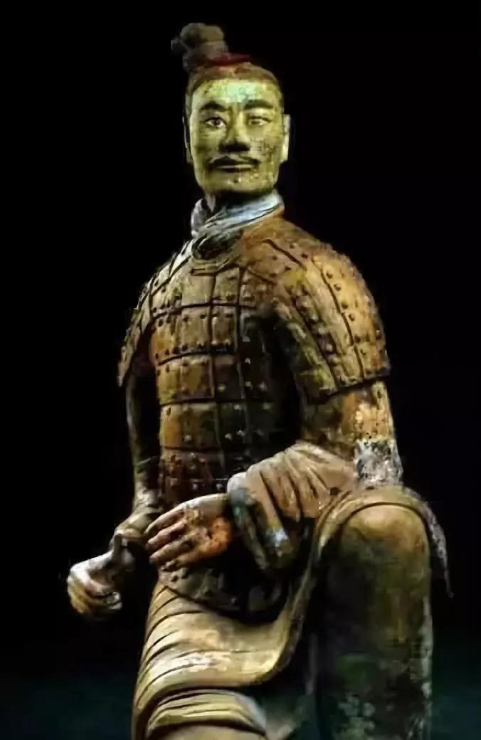 秦朝的特種兵?西安獨一無二的綠臉兵馬俑
