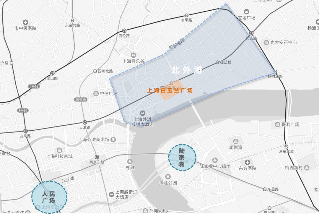 拥有上海外滩w酒店,浦西第一高楼的上海白玉兰广场,能给北外滩带来