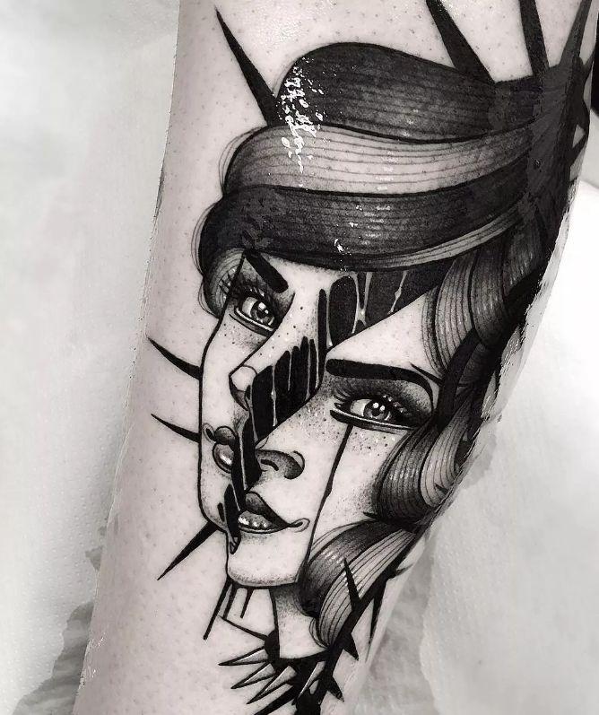 纹身素材暗黑风格图片