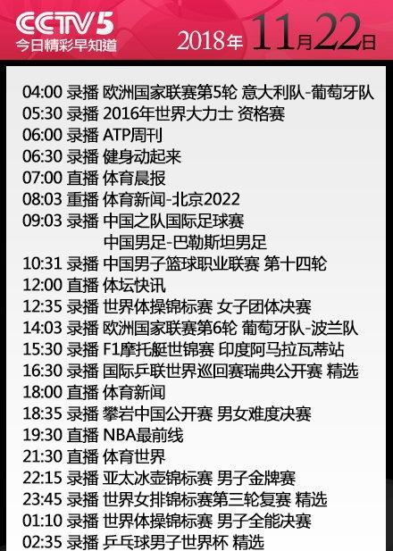 央视今日节目单 CCTV5+直播CBA广东vs山西 CCTV5直播NBA