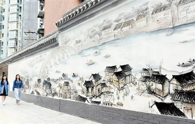 党的历史手绘壁画