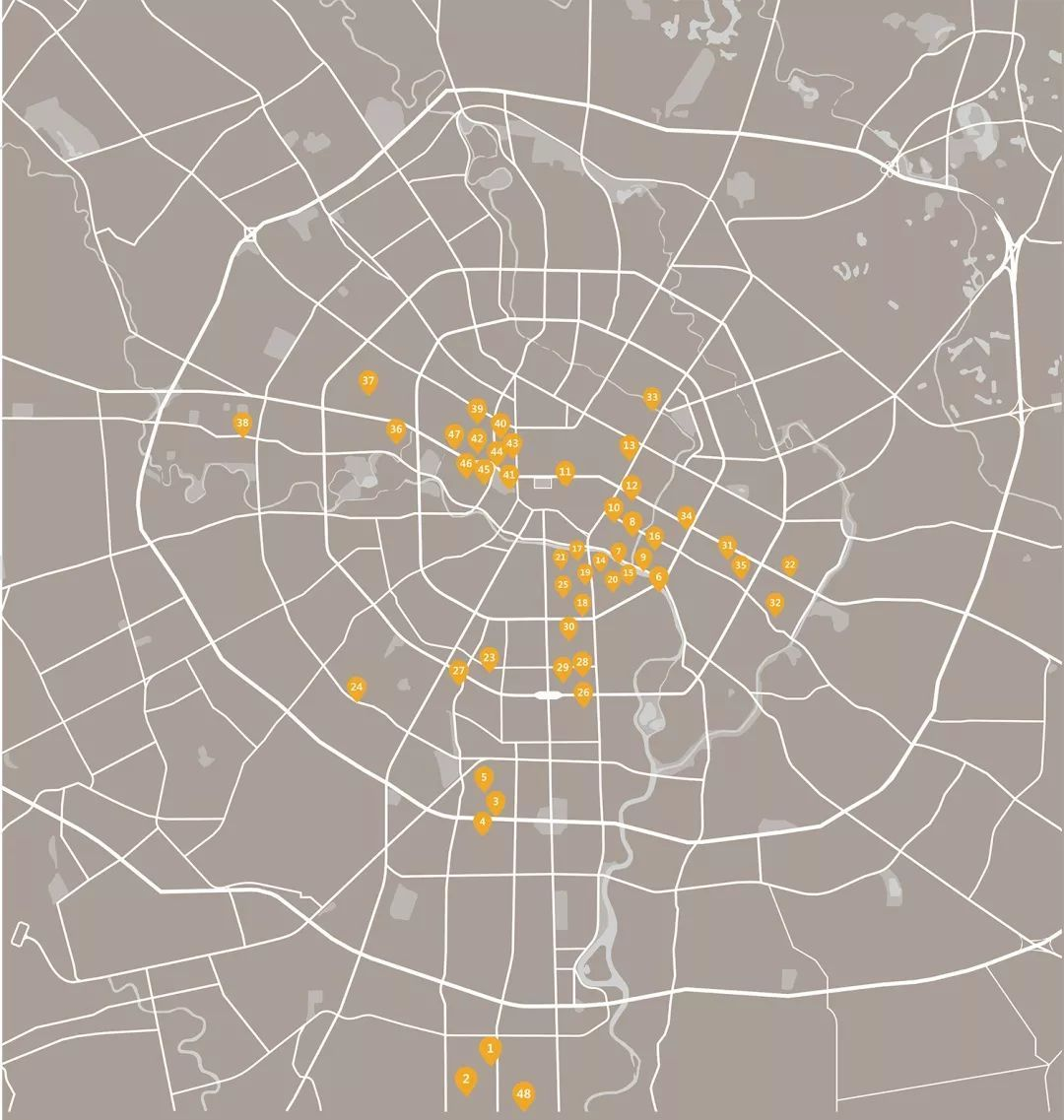 世界咖啡手绘地图