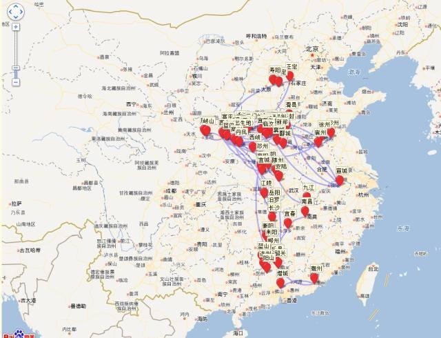 有人把李白杜甫一生的足迹做了地图,发现了大事情