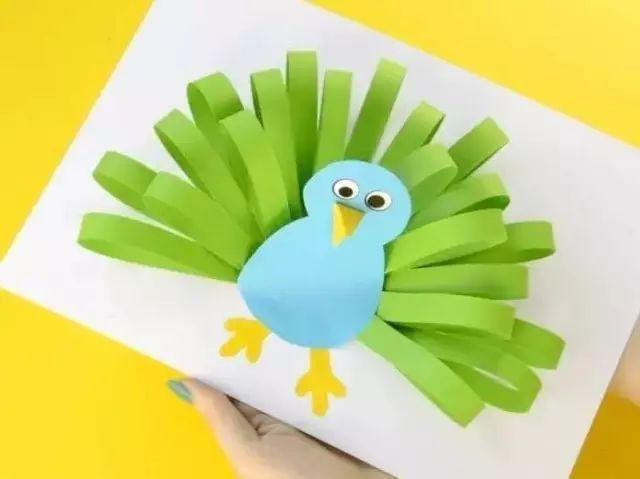 多变卡纸条创意手工,让幼儿园手工课不再单调!