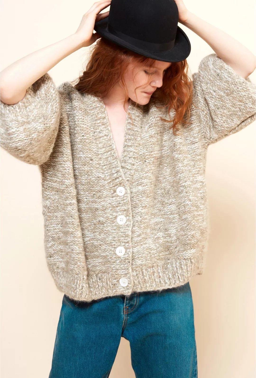 开衫单羊毛