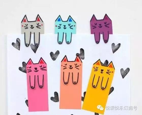 画出可爱猫咪(任何小动物)的头像  看图做书签