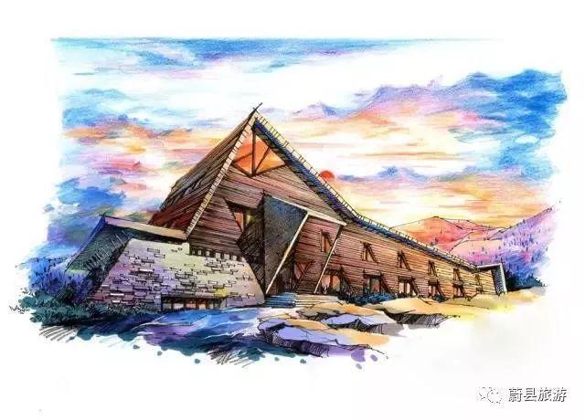 建筑马克笔手绘临摹案例