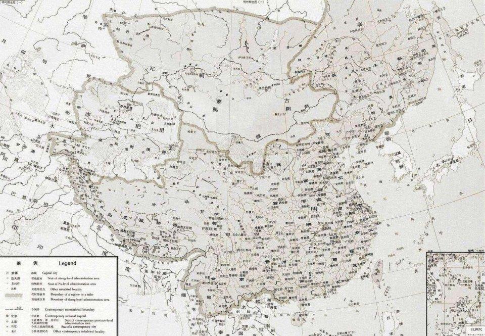 明朝疆域图图片