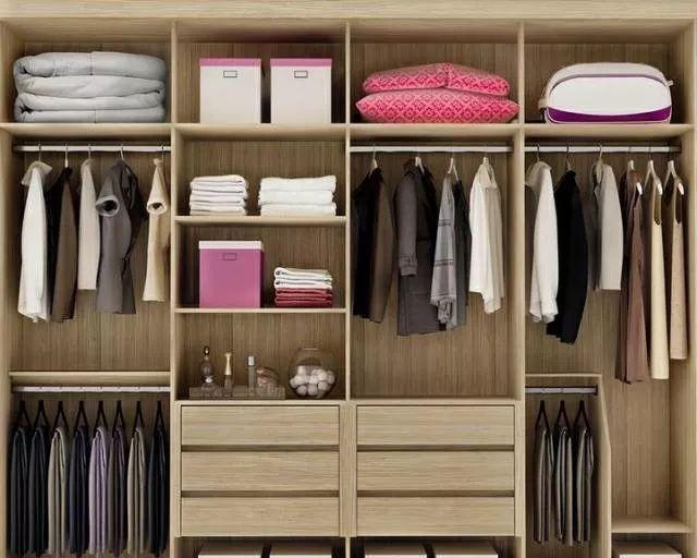 但是内部结构设置也非常重要,合理布局衣柜内部结构,首先要根据主人的