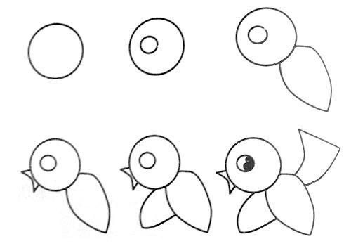 一笔一笔学画画~小动物   一笔一笔学画画--兔子   教你一笔一笔学画画~小鸟