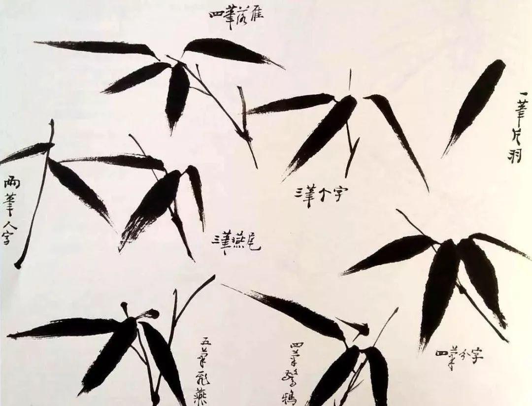 国画中的竹常以水墨表现竹的形象与气韵,墨竹画在写意花鸟画中占有图片