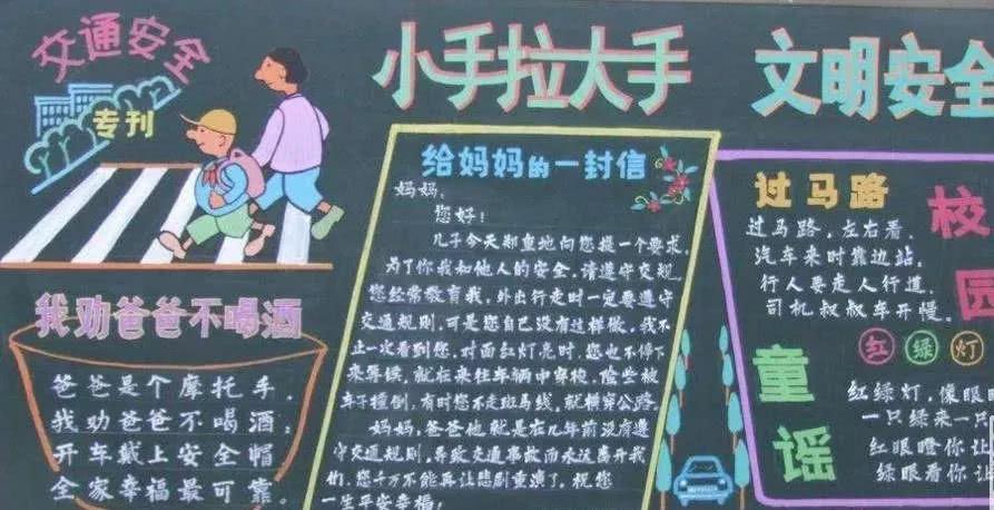黑板报版面设计图平安校园