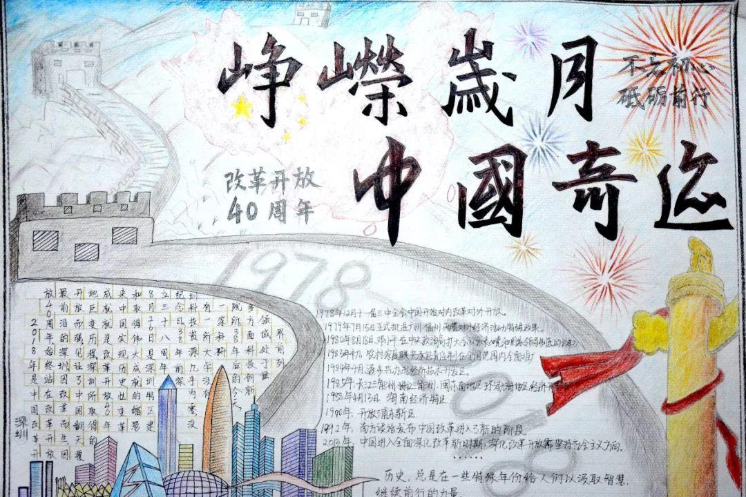 手抄报比赛 | 梦想与祖国相伴 青春与改革同行_中国