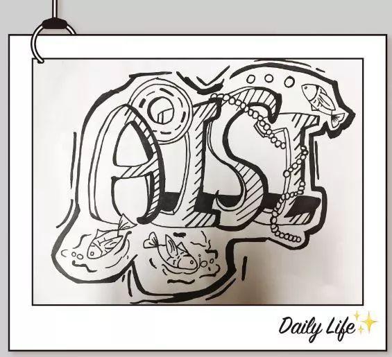 单词创意画,show出你的精彩_年级图片