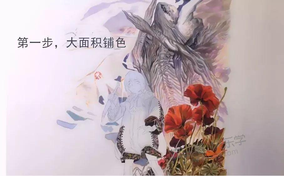 手绘教程哦~ 四,马克笔的使用 分享马克笔大神森林栄二的马克笔画法小