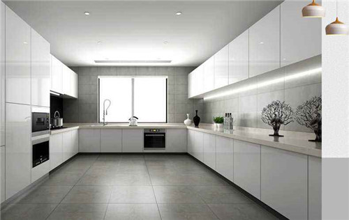 生活 正文  厨房地砖什么颜色好看 1,灰色 灰色地砖搭上白色基调,呈现