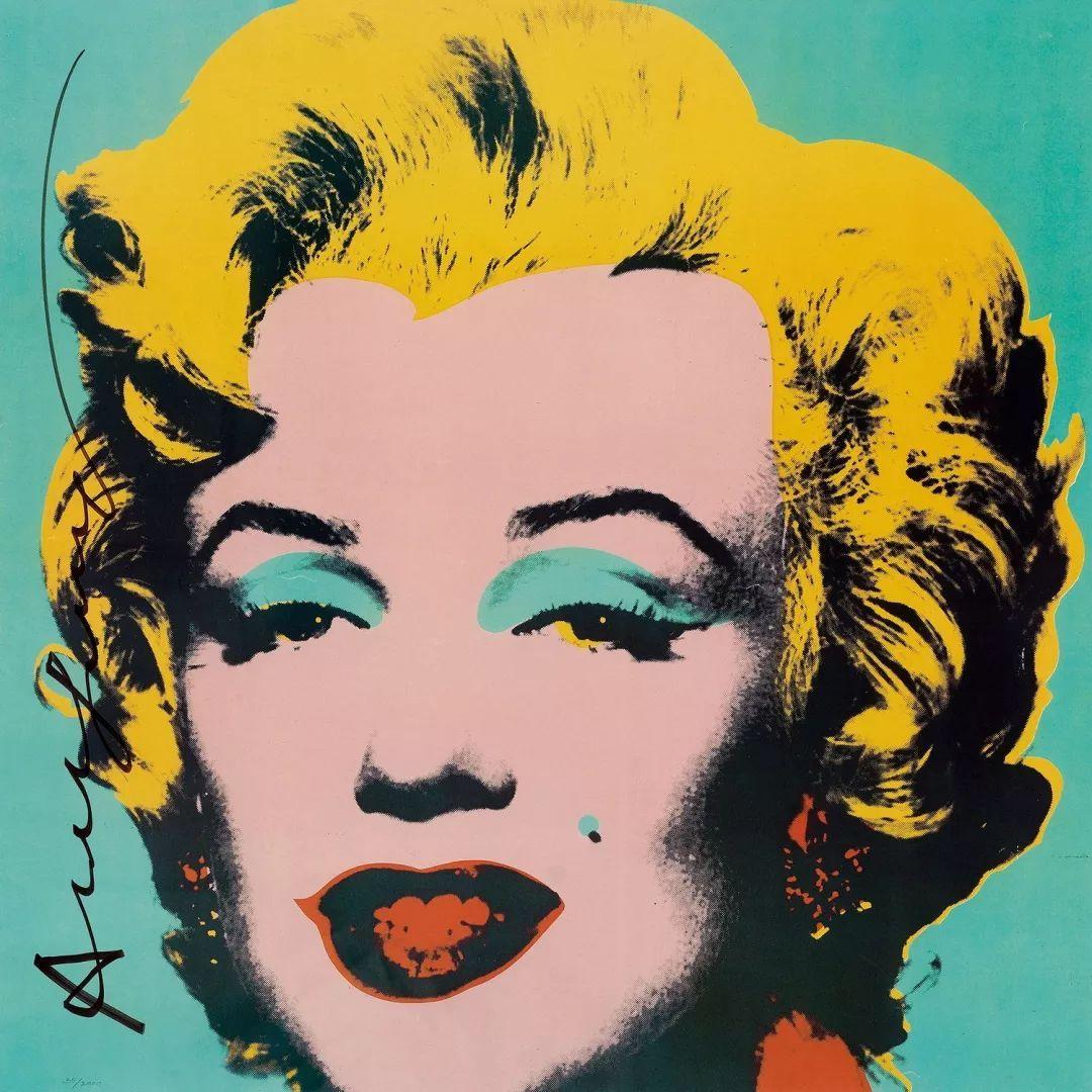 沃霍爾癡迷于名望和流行文化,獲得了她的黑白宣傳照片(來自1953年她圖片