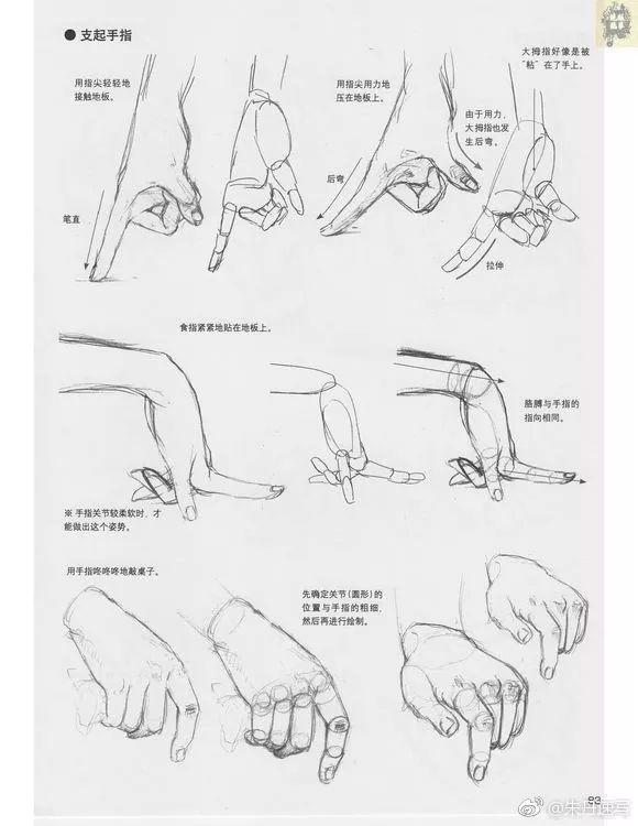 《【漫画教程】超级漫画素描技法——人物表现篇 】林晃 著》  手分为