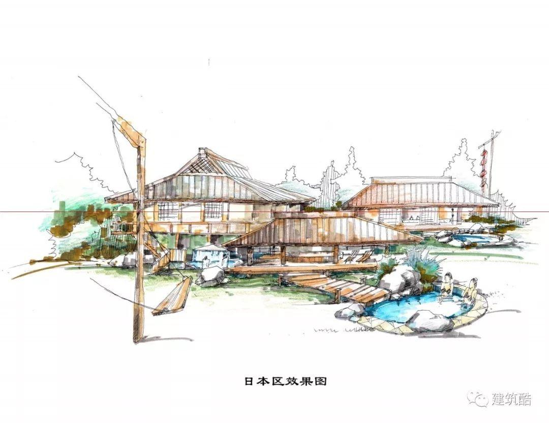 温泉度假村设计手绘图集