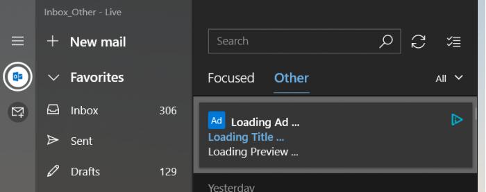 微软确认已经从Windows 10中的Mail应用程序中删除广告代码