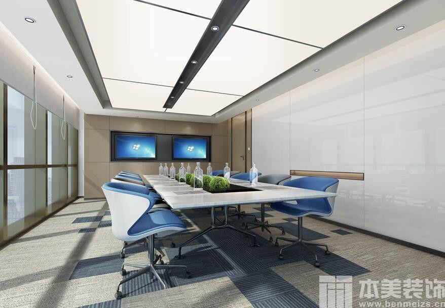面积:2000平米 设计:本美装饰设计组 郑州办公室装修设计效果图 返回