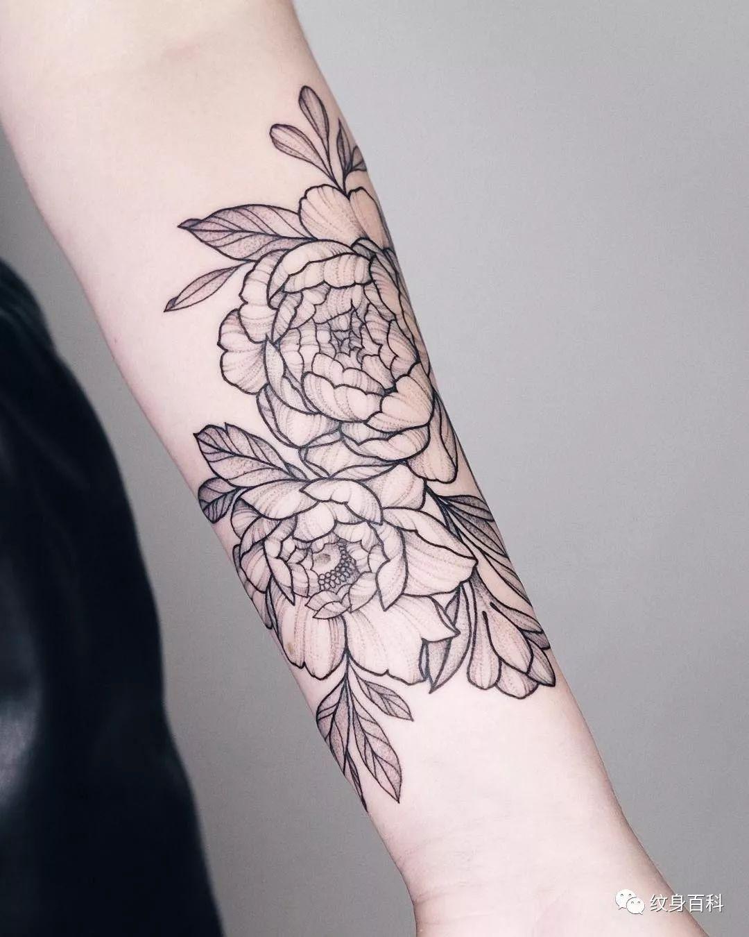 轻松搞定,素花纹身的新花样,花臂纹身图案_通隆游戏网