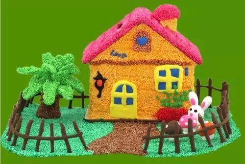 手工制作房子花