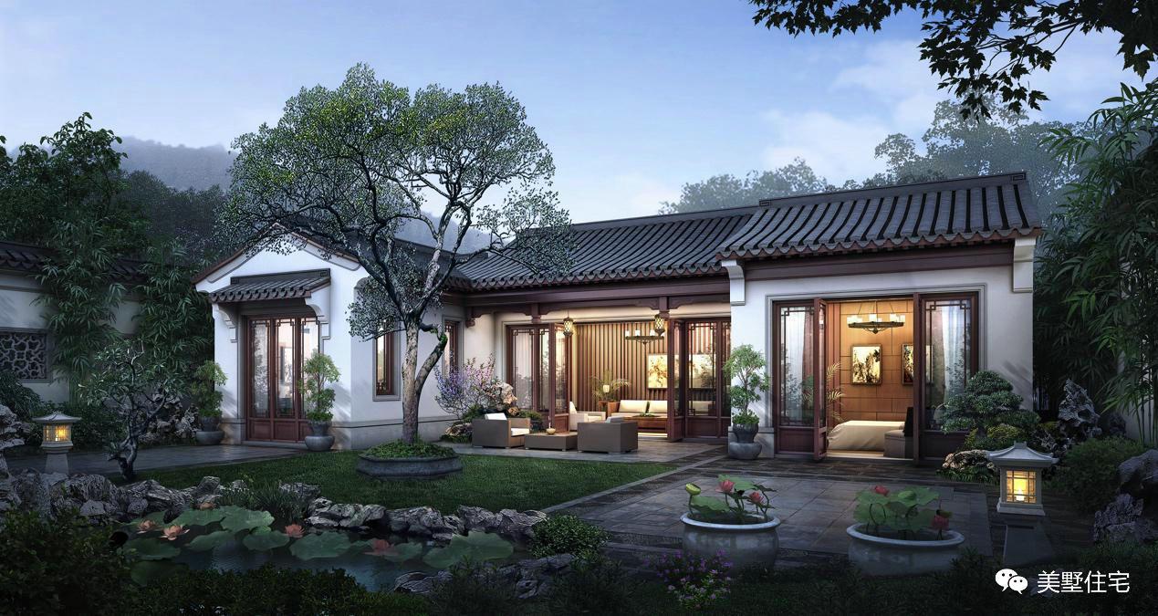山清水秀的乡村,拥有这样一栋带小院的中式住宅,打拼累了当养老房图片