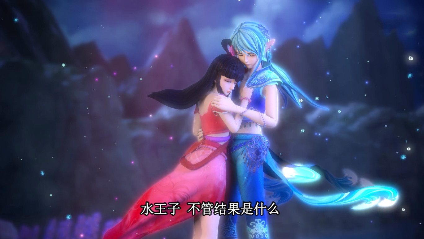 """叶罗丽第六季:王默主动""""亲吻""""水王子,水王子高兴强行带走王默图片"""