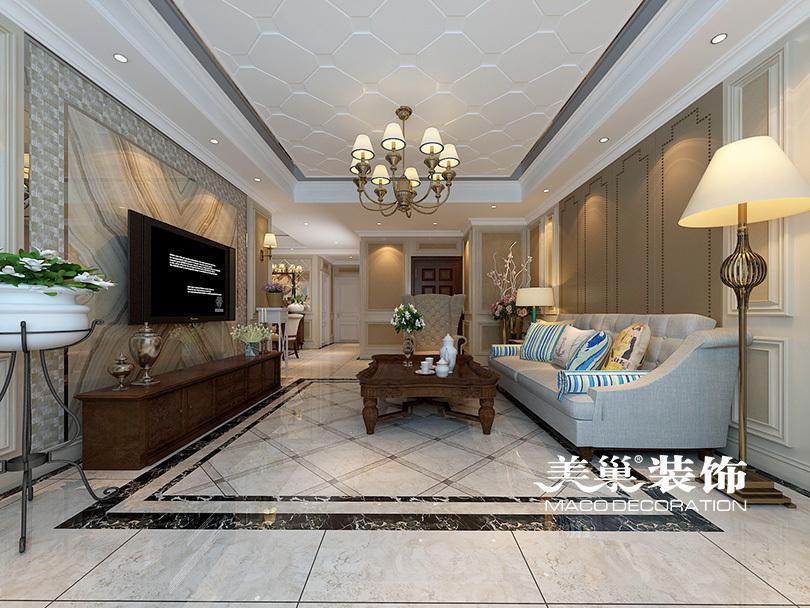(可加微信)经典欧式风格,正弘澜庭叙200平四室两厅装修简欧效果图图片