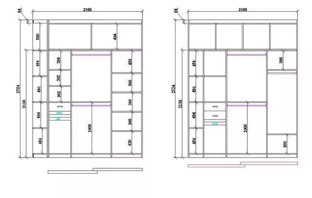 也是私密性,功能性要求比較高的柜子,那么衣柜應該怎么設計呢.圖片