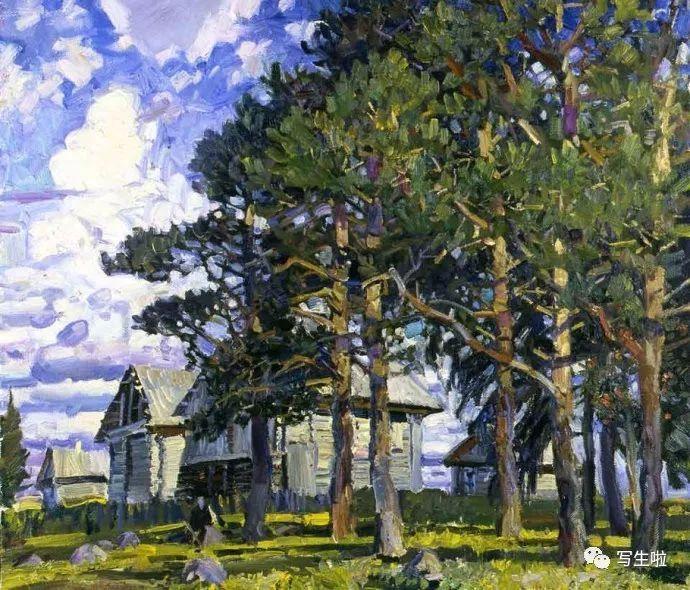 【写生啦】俄罗斯画家mikhail g. abakumov风景作品图片