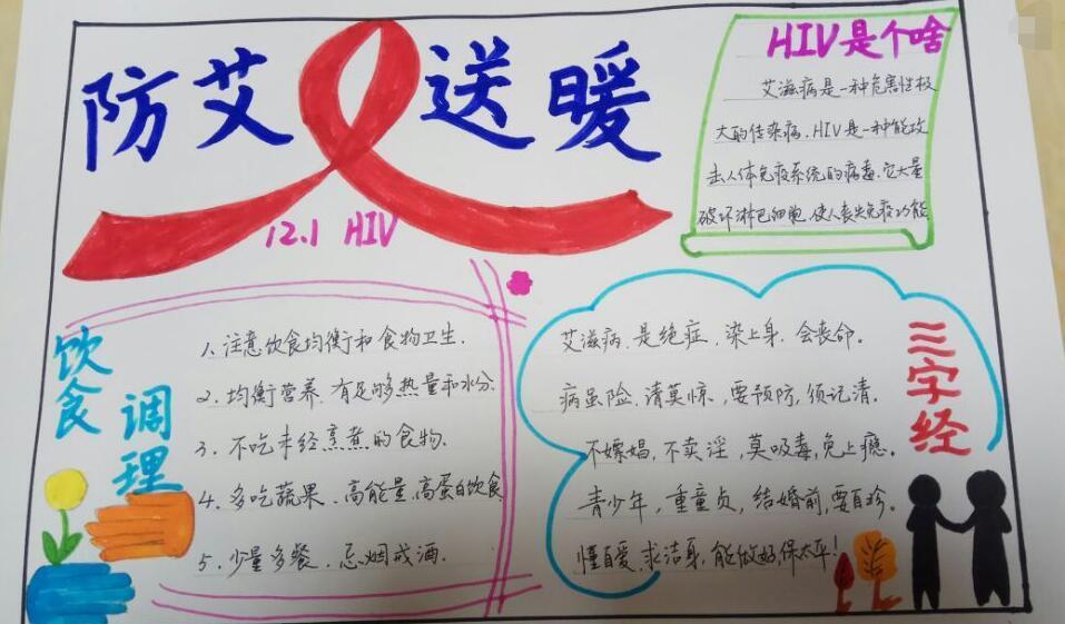 12.1艾滋病宣传日手抄报及预防艾滋病小知识分享(小学生必看)