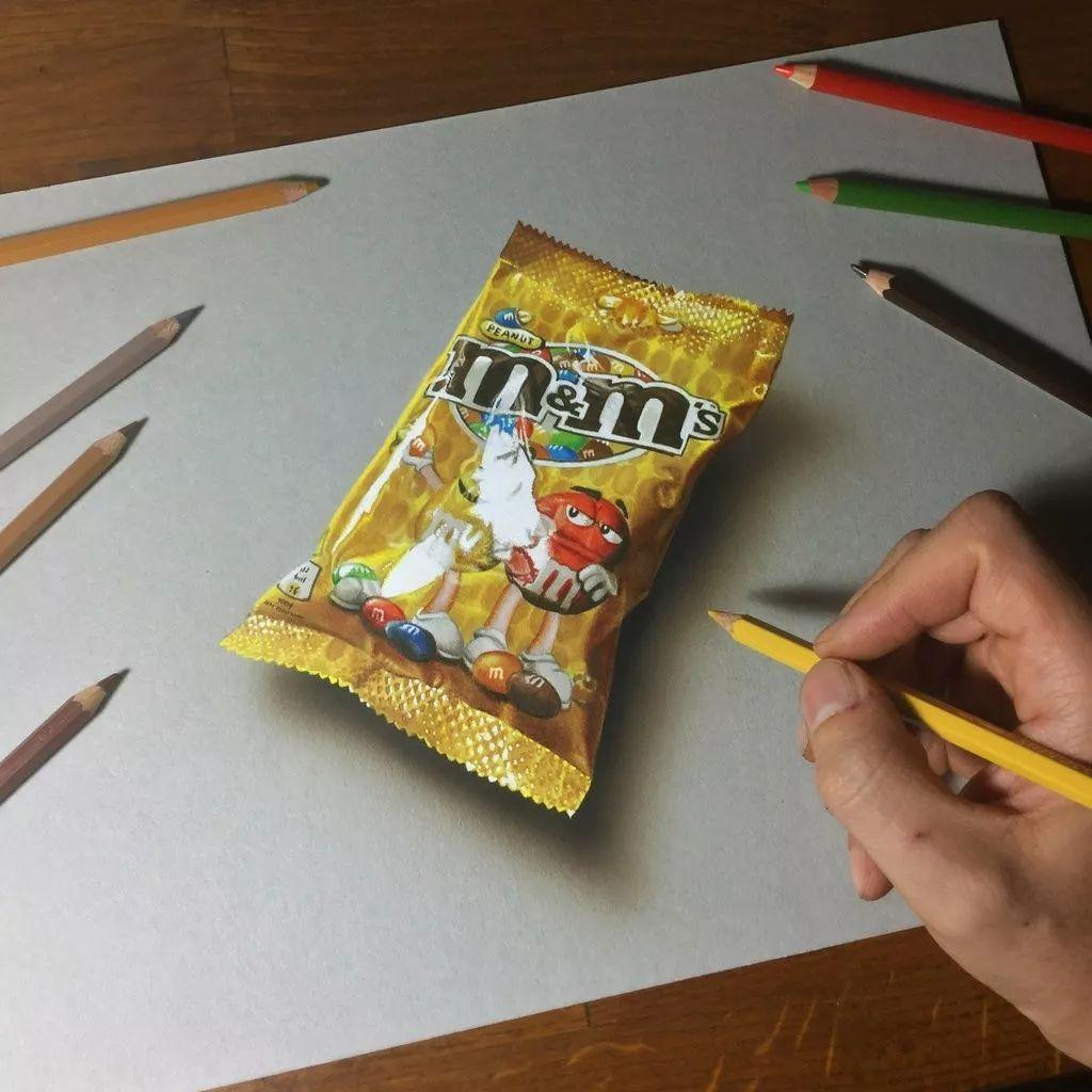 彩铅手绘图片零食