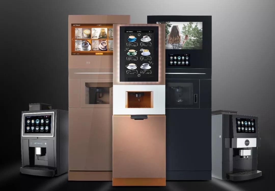 技诺智能现磨咖啡机,技诺商用无人咖啡贩卖机定制,共享扫码意式自助咖啡设备