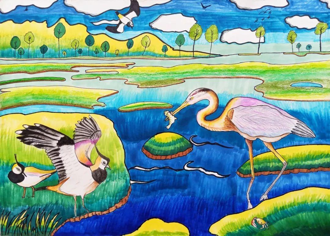 为您喜欢的湿地画作打分,共同助力湿地保护工作,呵护绿水青山.图片