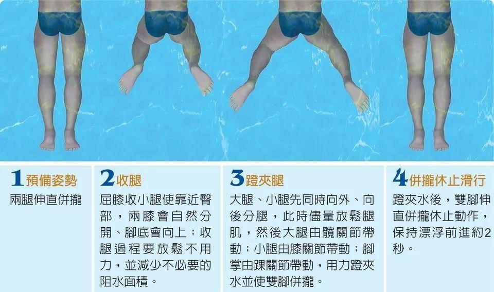 体育 正文  蛙泳第一个需要掌握的技能是蛙泳的蹬腿,下面小编就指导图片