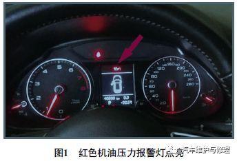 2016款奥迪q5车红色机油压力报警灯点亮