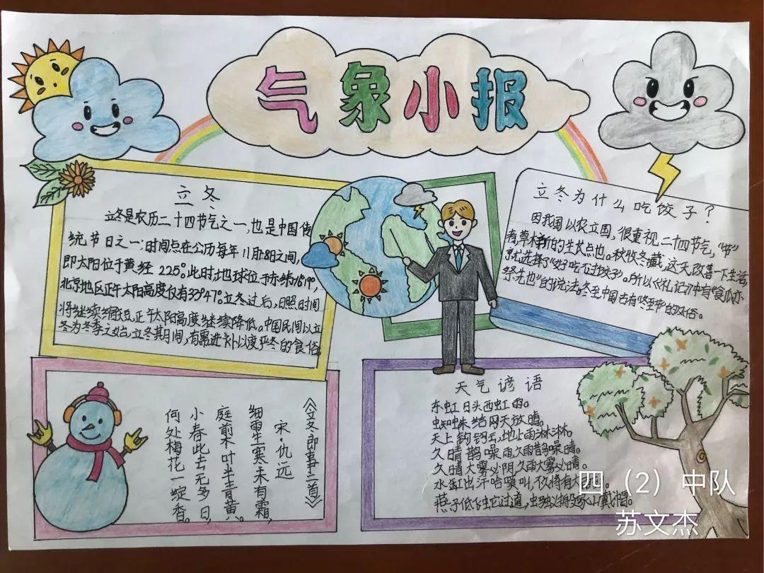 畅想未来——2018乐业小学校园科技节之气象手抄报,儿童幻想画比赛