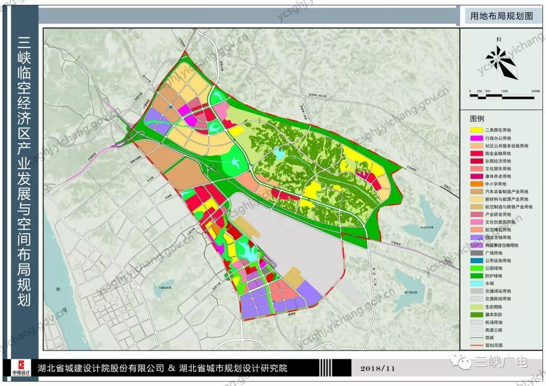 人口规模 三峡临空经济区规划规划近期2020年居住人口为 3.