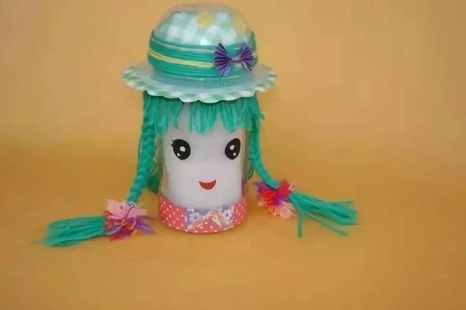 创作发明 教你做瓶子娃娃儿童手工创意