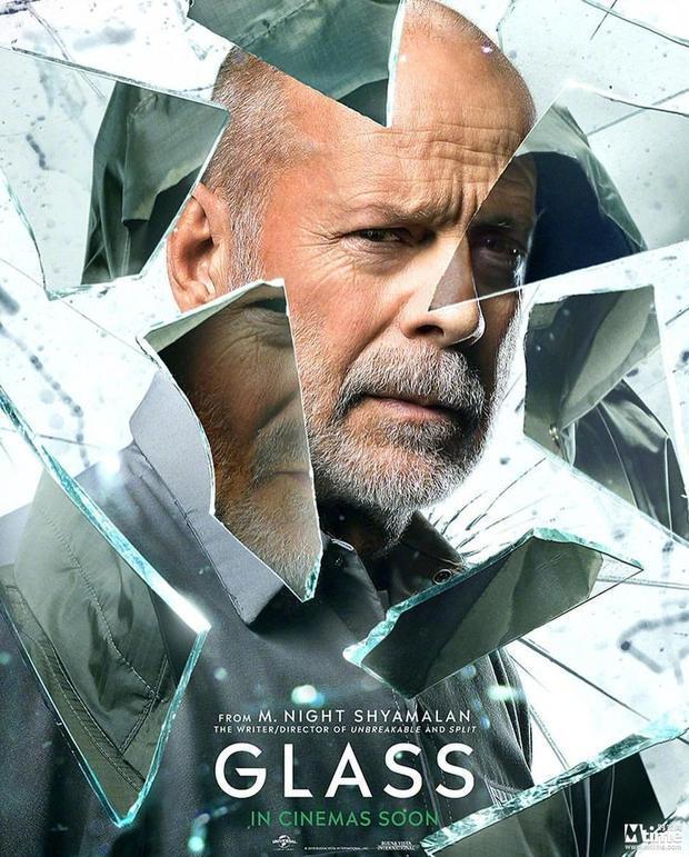 布鲁斯威利斯惊悚片《玻璃先生》发海报