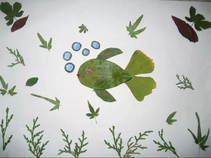第二站,小编准备了取材于自然的树叶拼图.图片