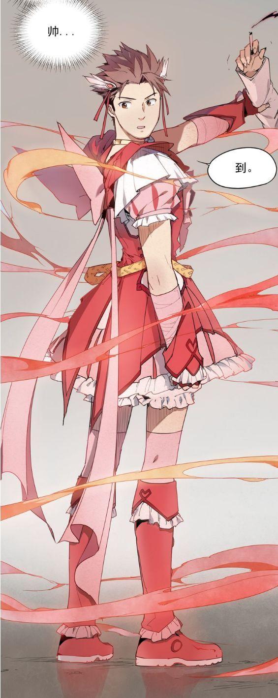 这套玫红色裙装,同色的头饰鞋子和灯笼裤,优雅安全又可爱.图片