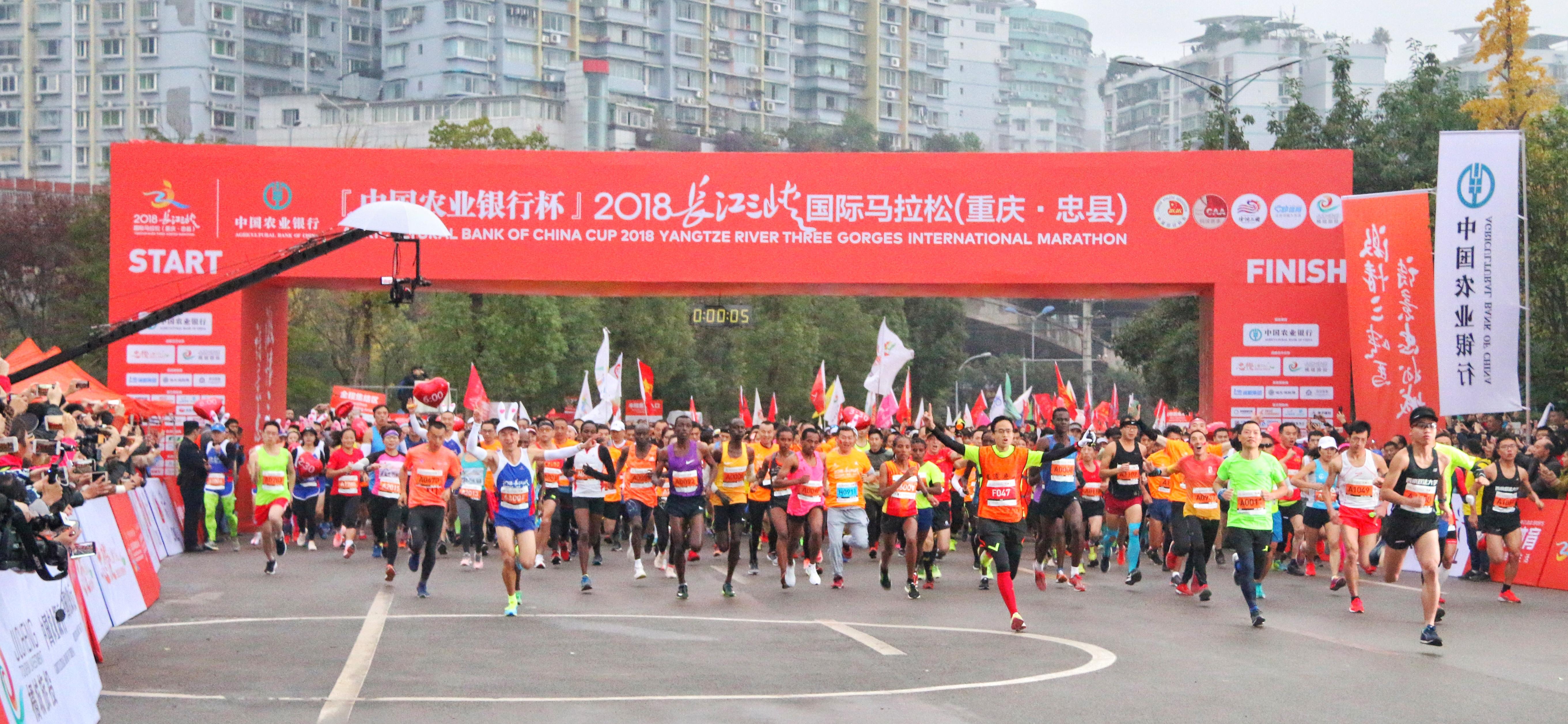 2018长江三峡国际马拉松(重庆·忠县)活力开跑!