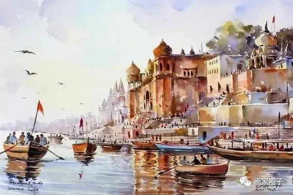 主编微信:hy720118 thanakorn chaijinda 泰国水彩画家 他将色彩运用