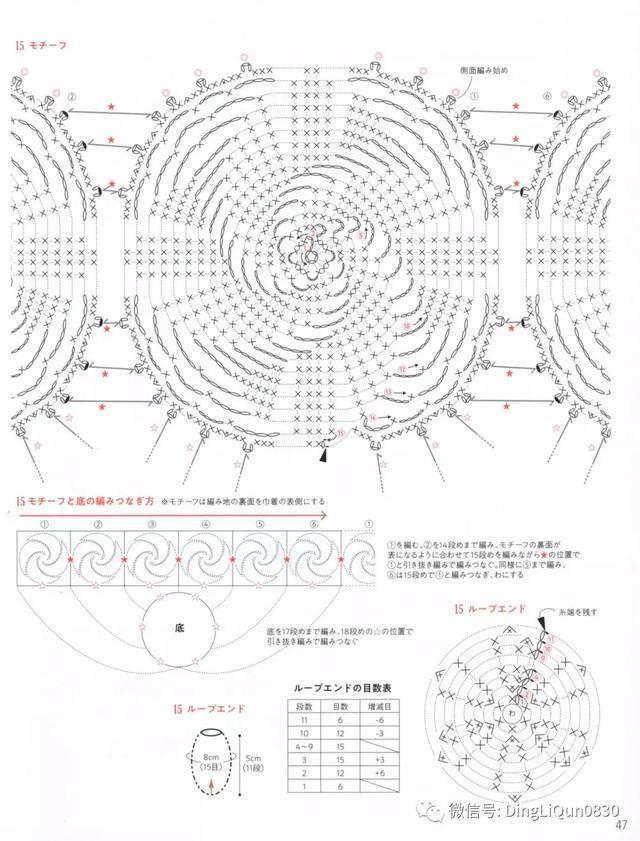 【钩编图解】最新25款螺旋纹包包,帽子,围脖等(日文)