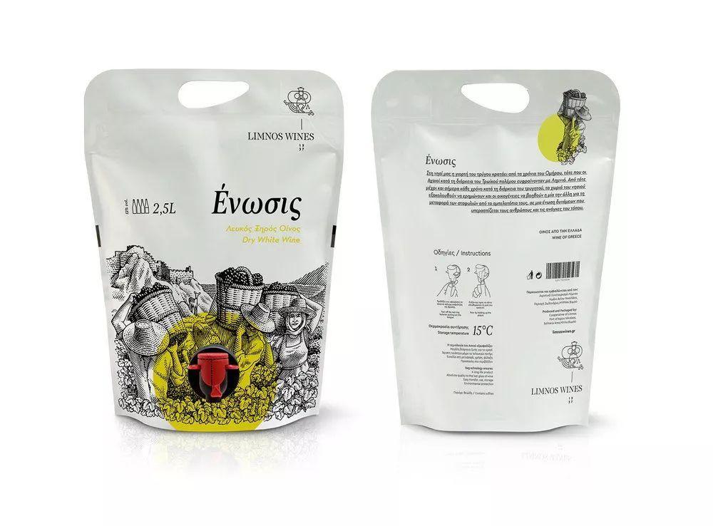 袋装设计的葡萄酒包装_表现形式图片