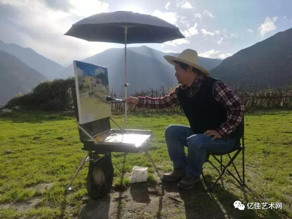 手绘水彩重庆著名景点