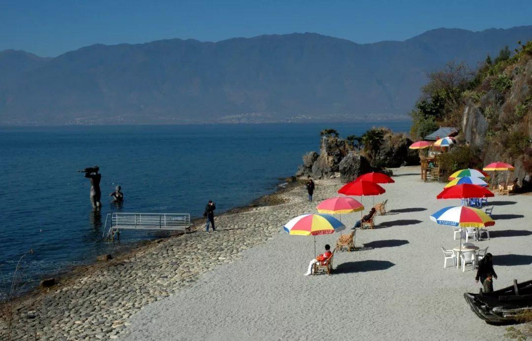 岸边赏日,海中观山,风情交替攻略见丽江之间!大理武汉自由行山水图片